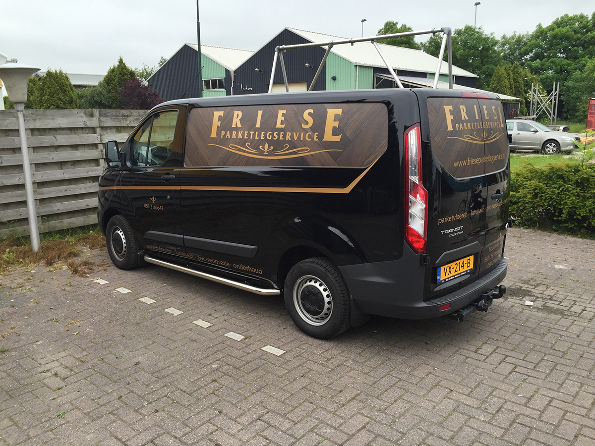 Friese Parket busbelettering
